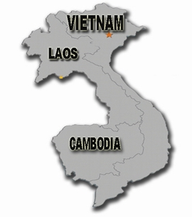 Indochina Map, Vietnam Cambodia Laos